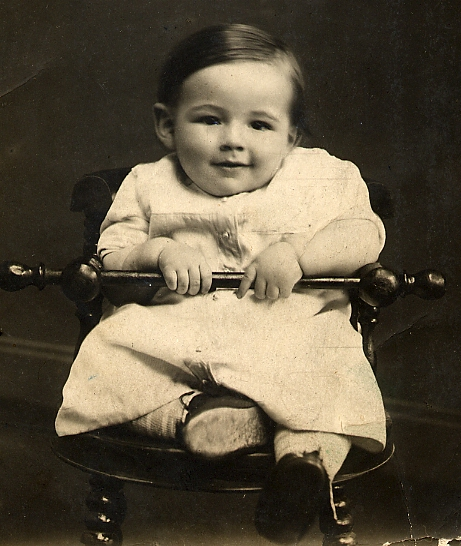 Sima Charny as an infant